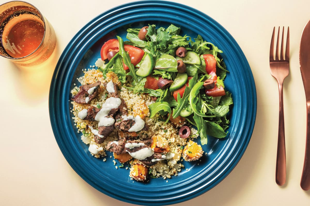 Mediterranean Beef & Salad Bowl