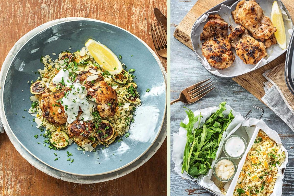 Mediterranean Chicken Thigh Dinner