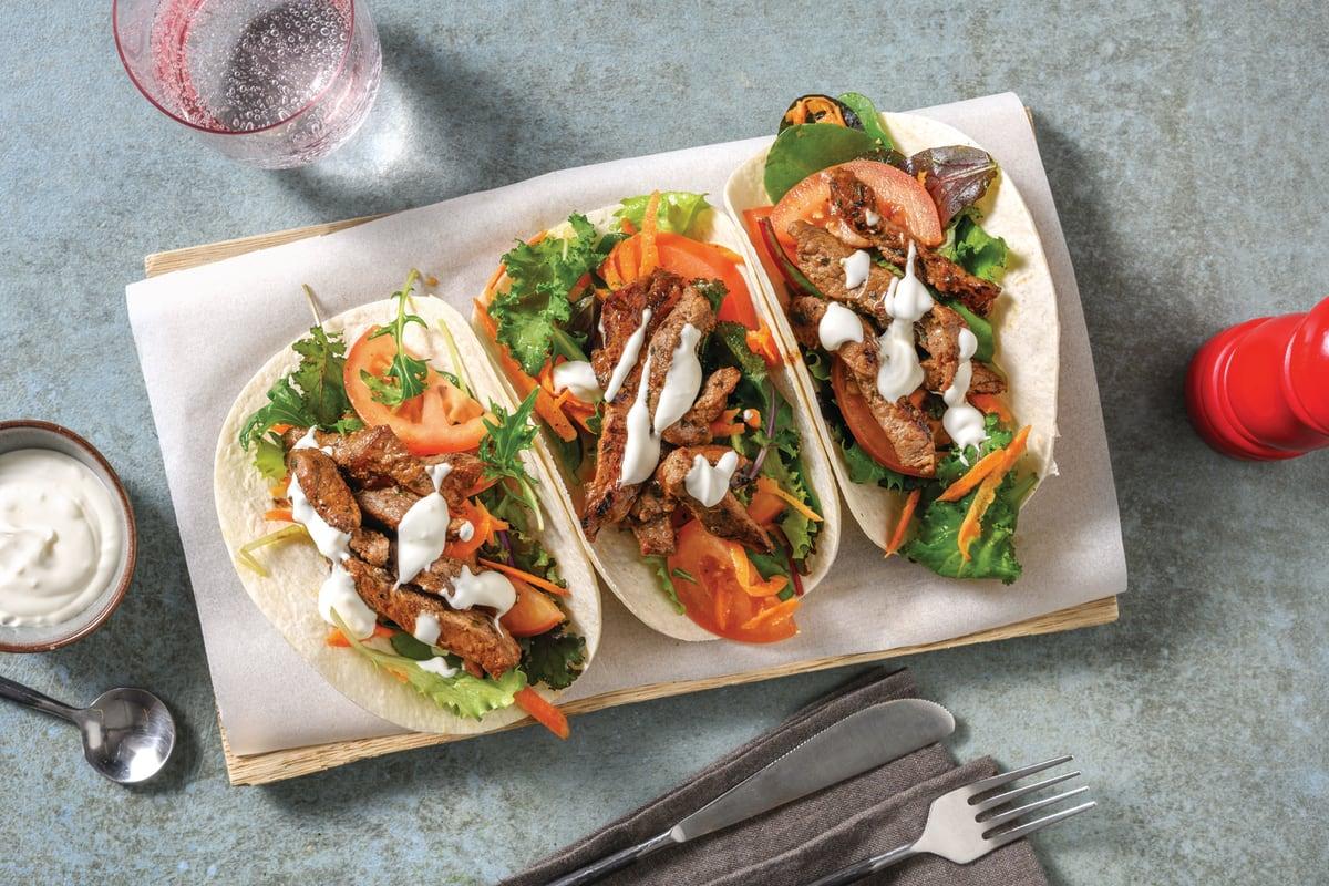 Mediterranean Beef Tacos