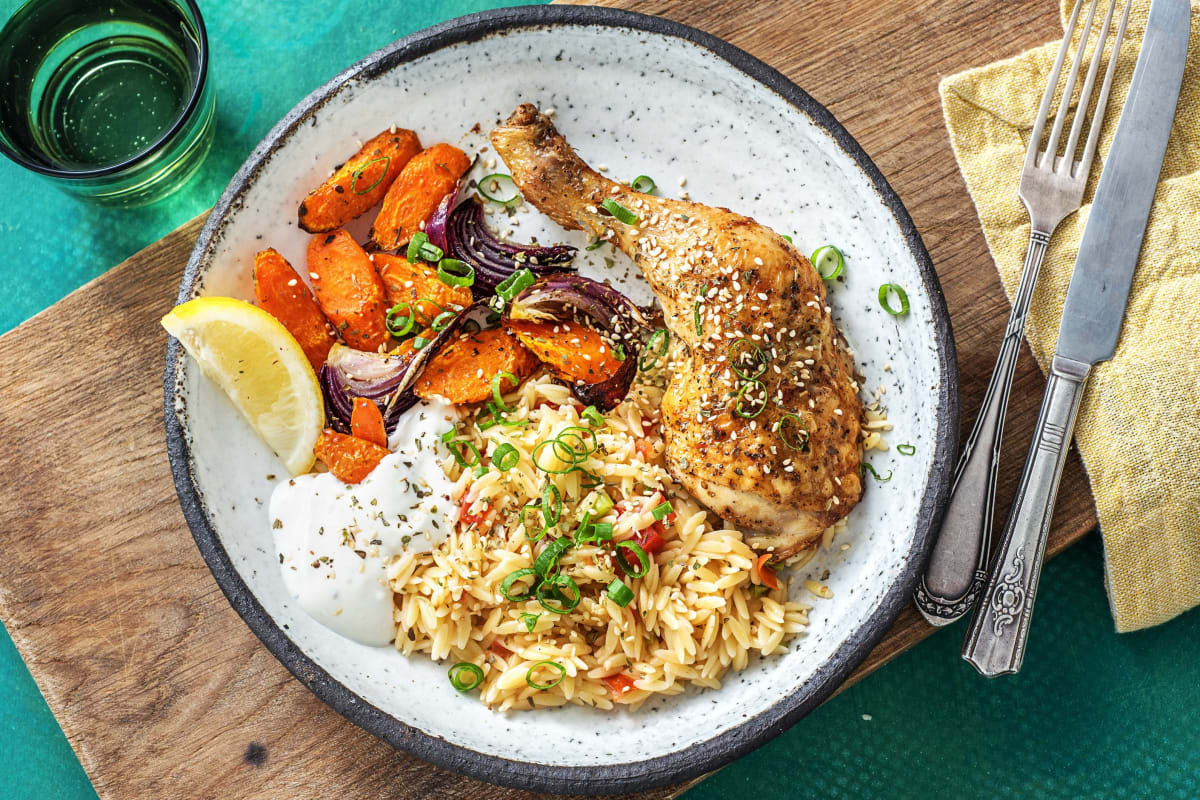 Mediterranean Roasted Chicken Legs
