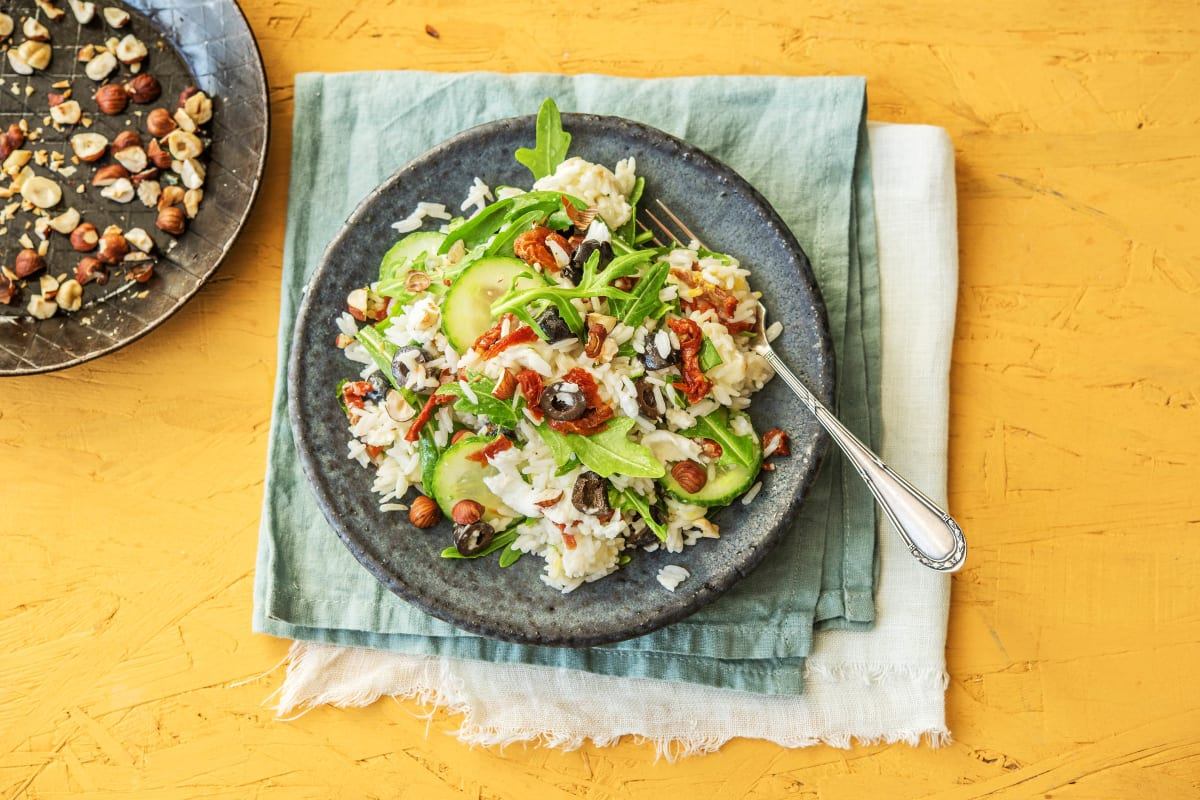 Mediterraner Reis-Oliven-Salat