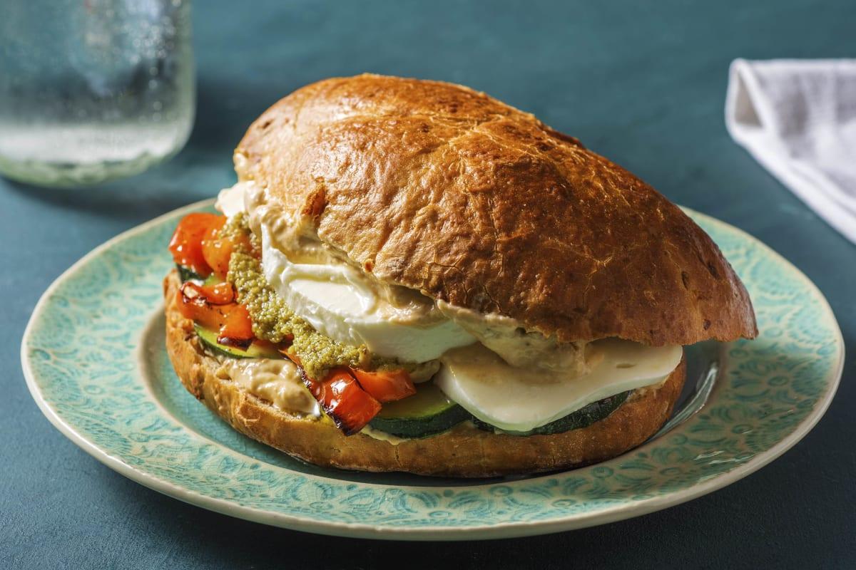 Mediterranes Focaccia-Sandwich
