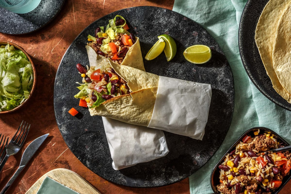 Mexicaanse burrito met gehakt