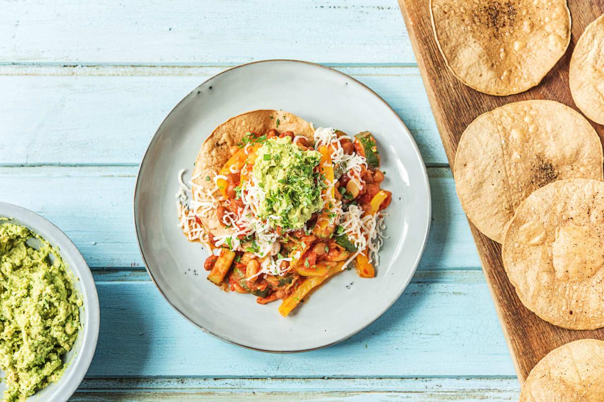 Mexican-Style Beanie Tostadas