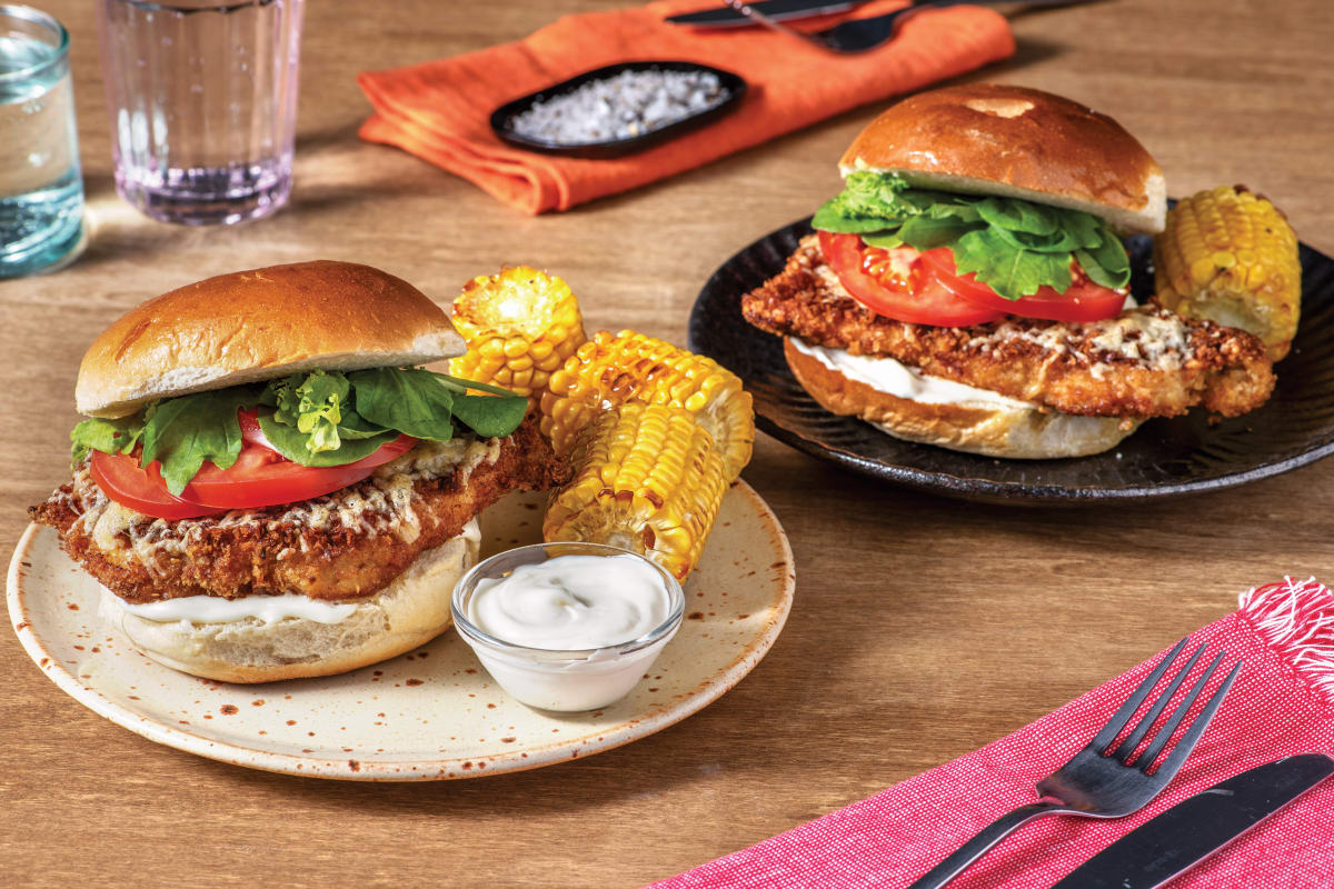 Mexican Crumbed Chicken Burger