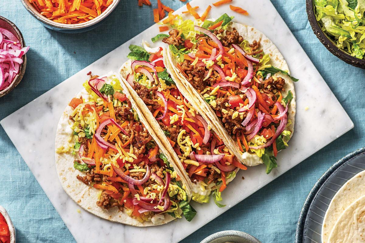Cheesy Mexican Pork Tacos
