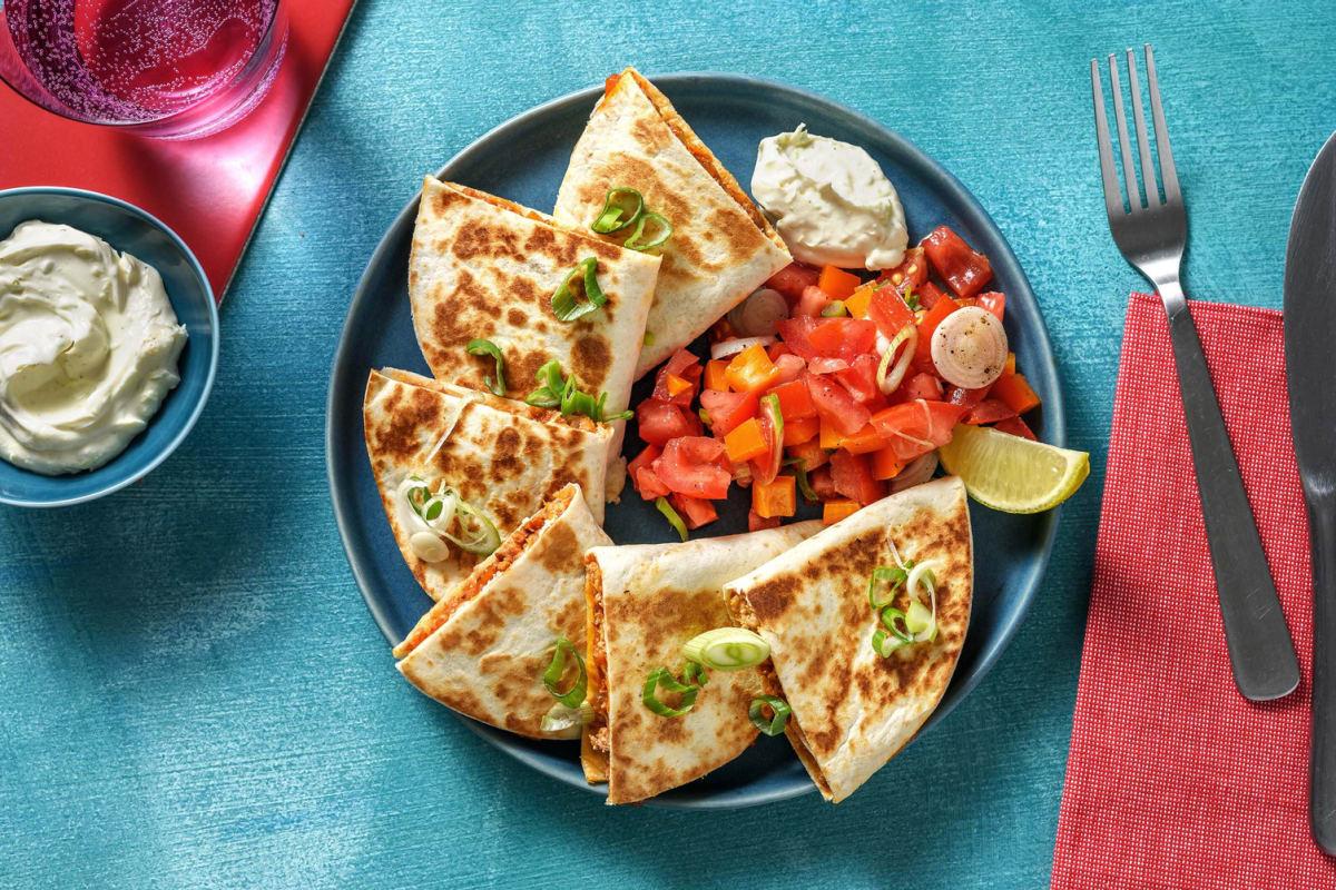 Mexican-Spiced Pork Quesadillas