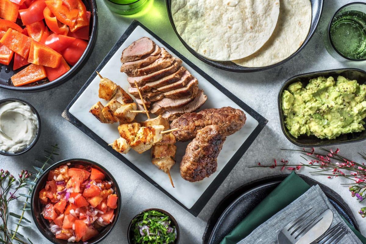Mexikanische Fleischplatte