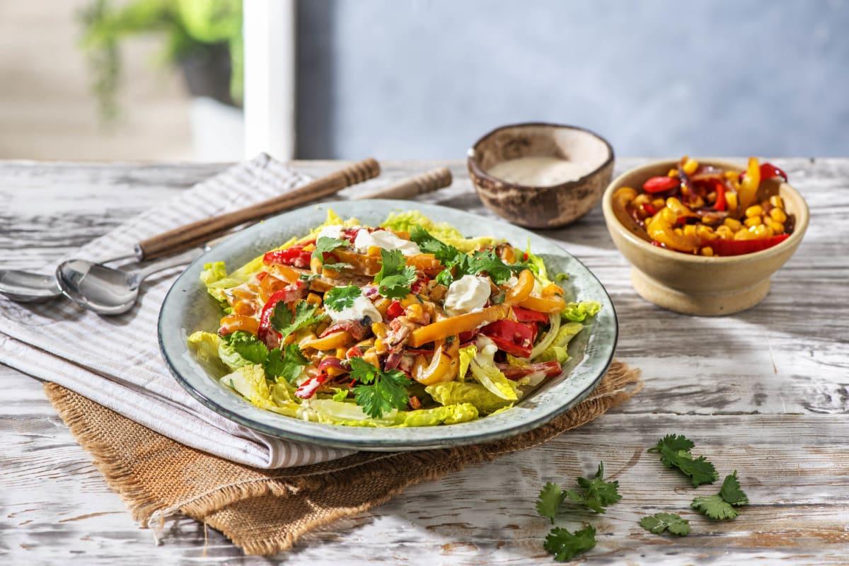 Mexikanischer Fajita-Salat