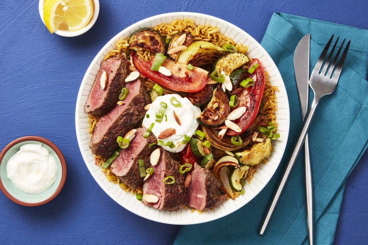 Middle Eastern Steak Bowls