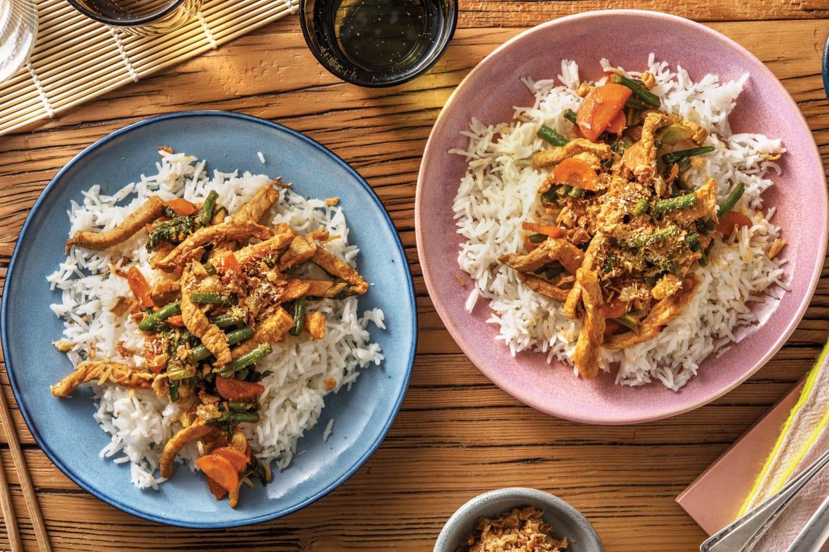 Mild Thai Pork & Veggie Stir-Fry