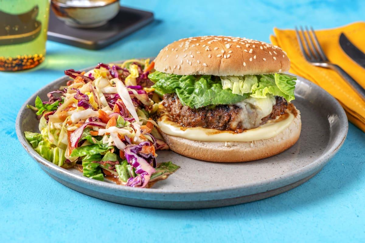 Miso and Caramelised Onion Marmalade Burger