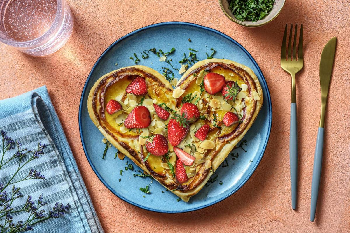Moederdagtaartjes met aardbeien en nectarines