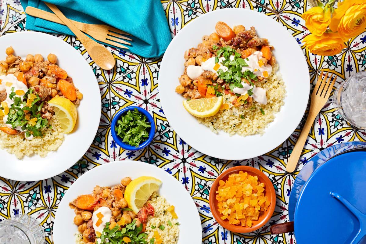Moroccan Chicken Sausage Tagine