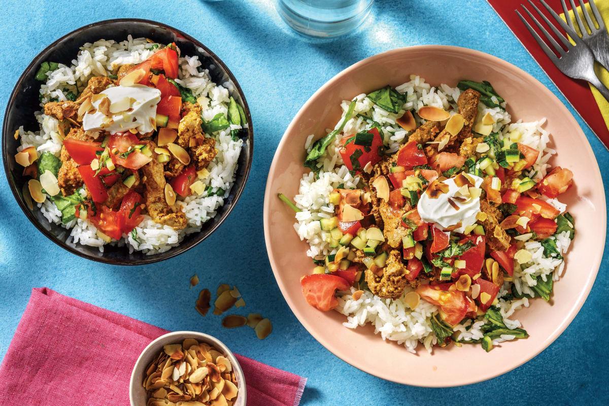 Mumbai Beef Rice Bowl