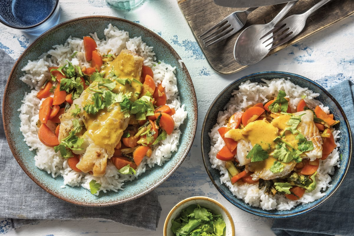 Mumbai-Style Coconut Fish Curry