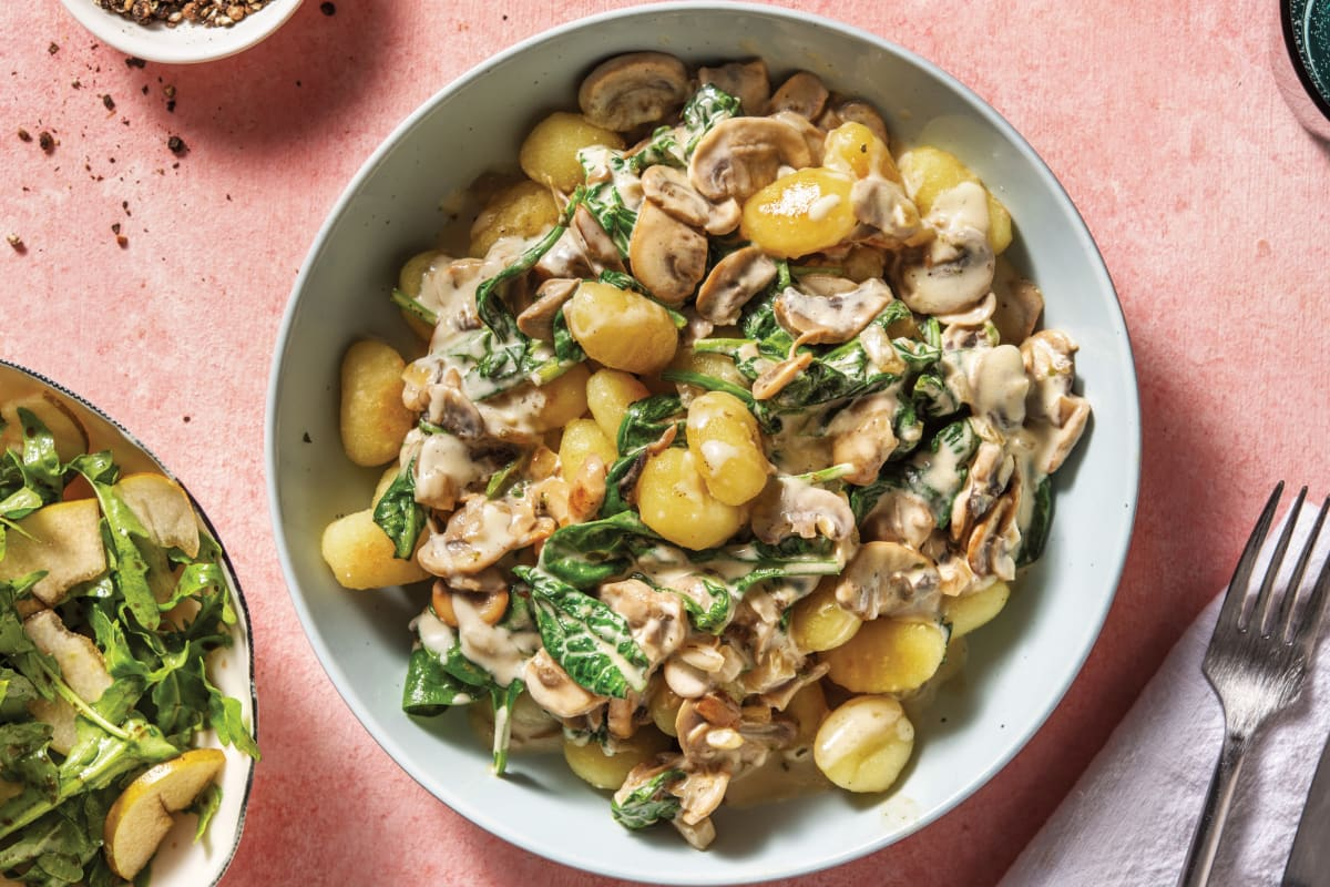 Creamy Mushroom & Parmesan Gnocchi