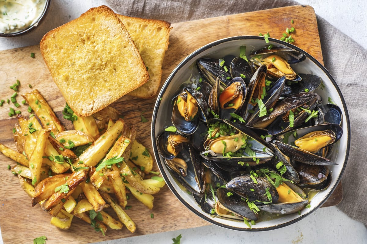 Mussels in Shallot Broth