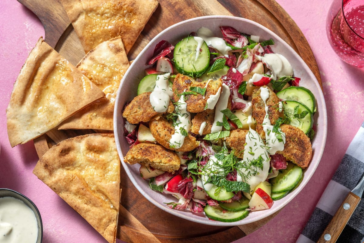 Nordisk falafel med hummus
