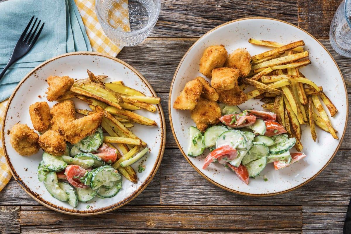 Nuggets de poulet maison & frites