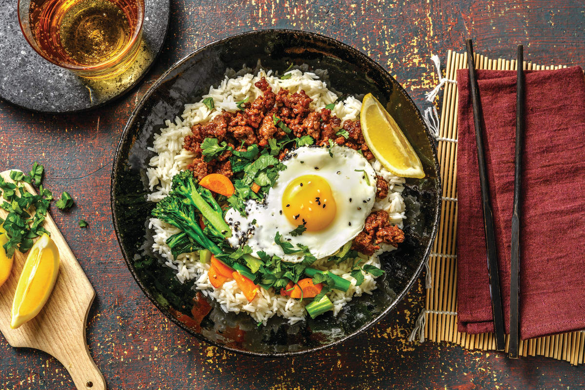 Asian Soy Beef & Ginger Rice Bowl
