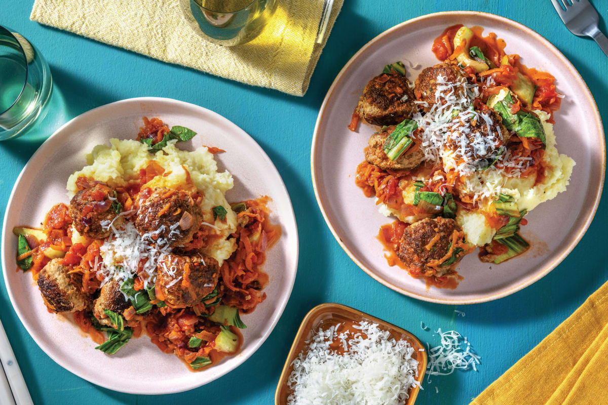Cheesy Pesto Venison & Beef Meatballs