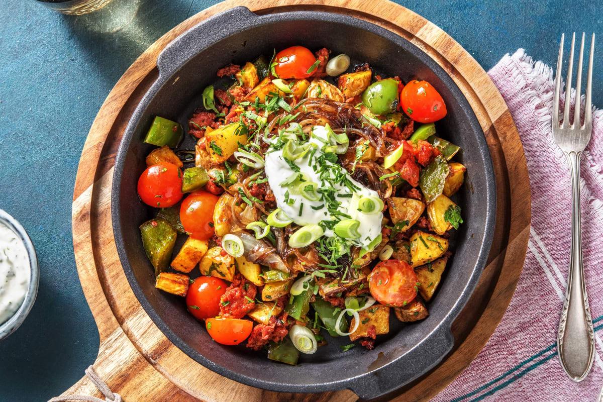 One-Pan Chorizo Hash