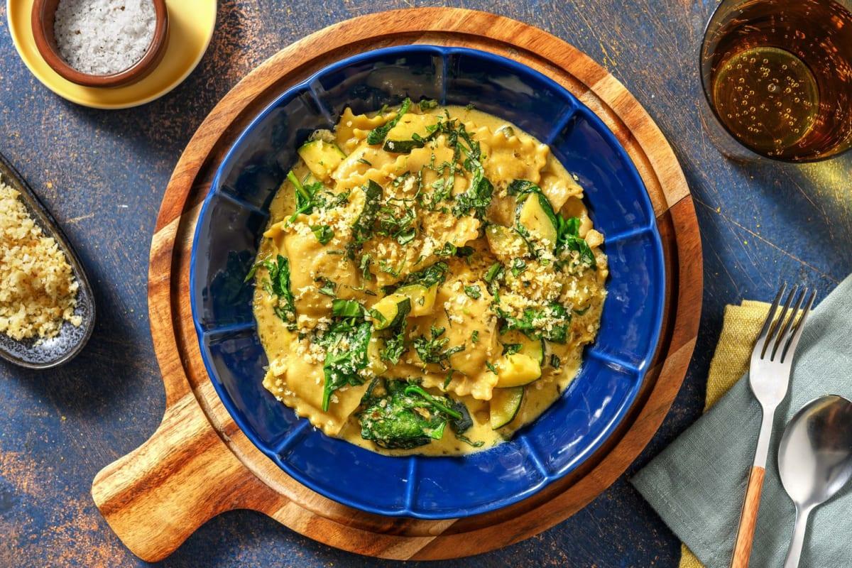One-pan ravioli