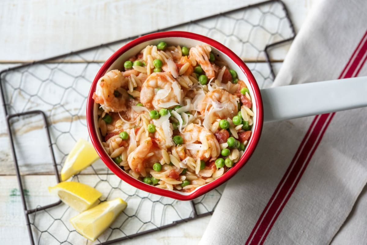 One-Pot Shrimp and Orzo