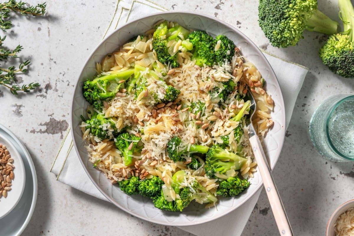 Orzo met broccoli en pecorino
