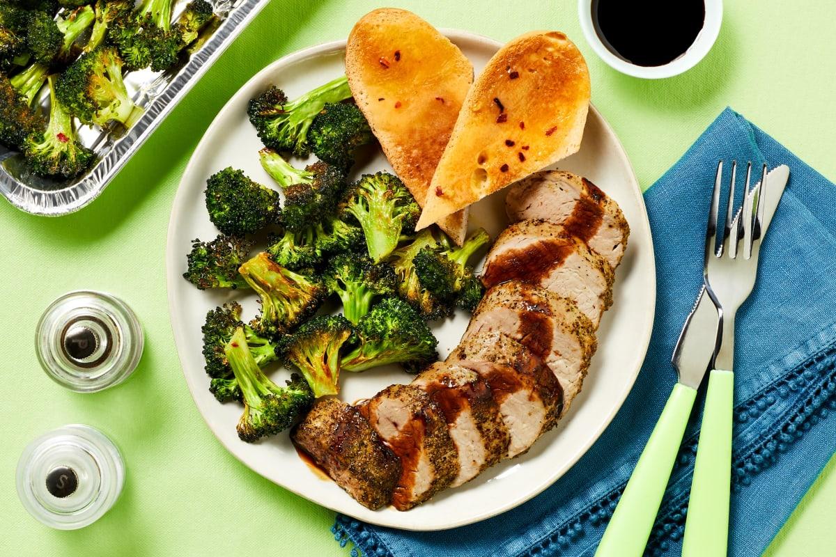 Herby Balsamic Pork Tenderloin