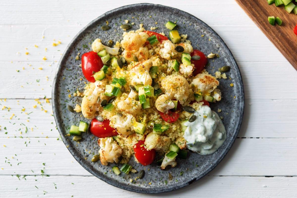 Oven-Roasted Mediterranean Cauliflower