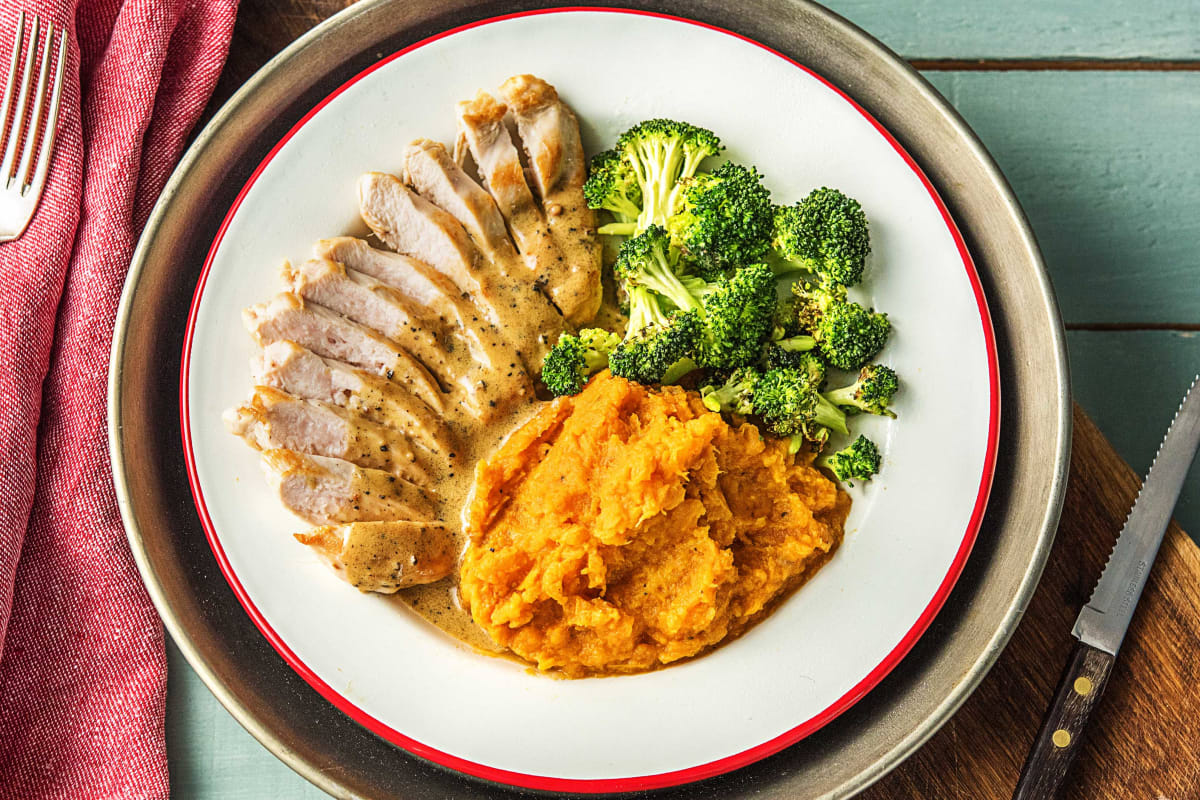 Chicken Breast With Sweet Potato Mash Recipe Hellofresh
