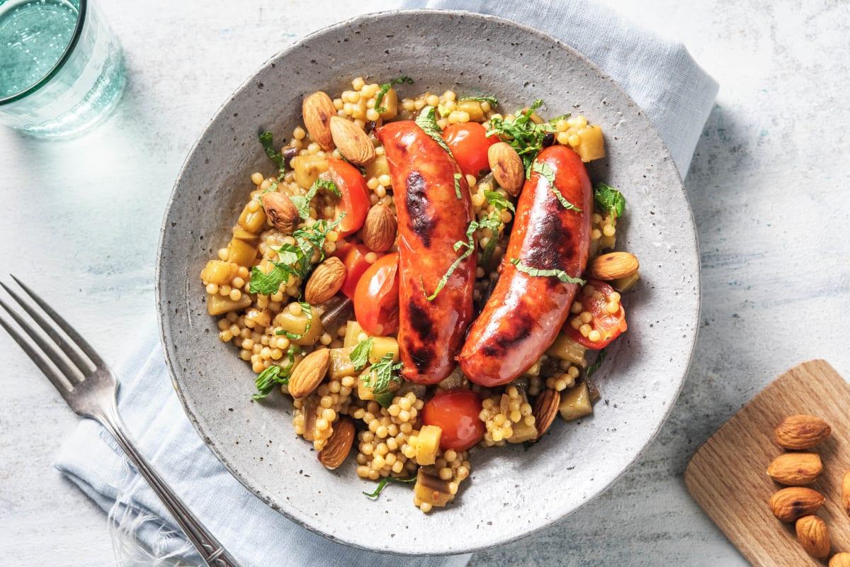 Couscous perlé aux saucisses de poulet