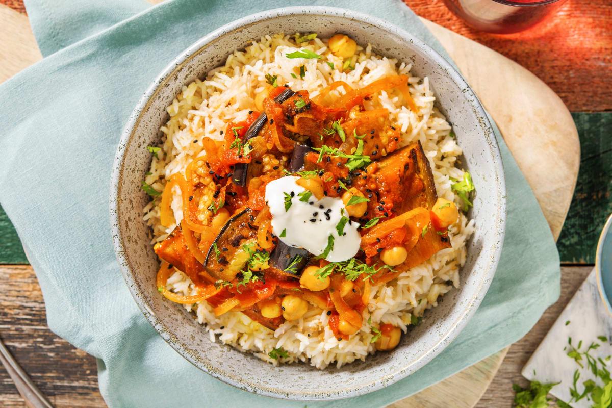 Pasanda Spiced Aubergine Curry