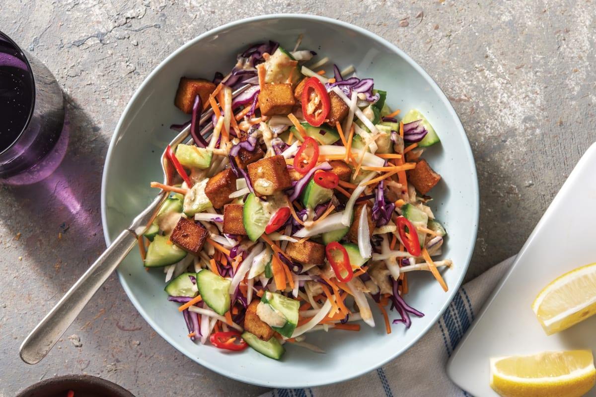 Peanut & Makrut Lime Tofu Salad