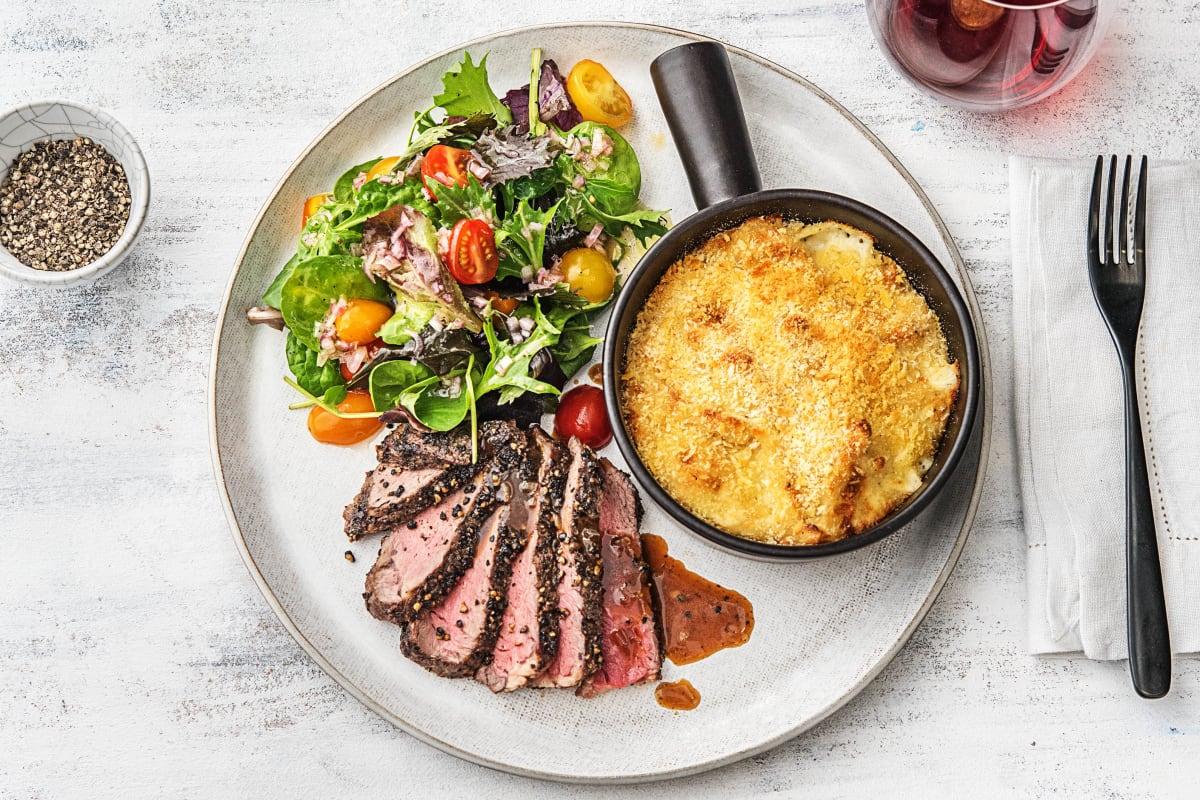 Peppercorn-Crusted Rib-Eye Steak