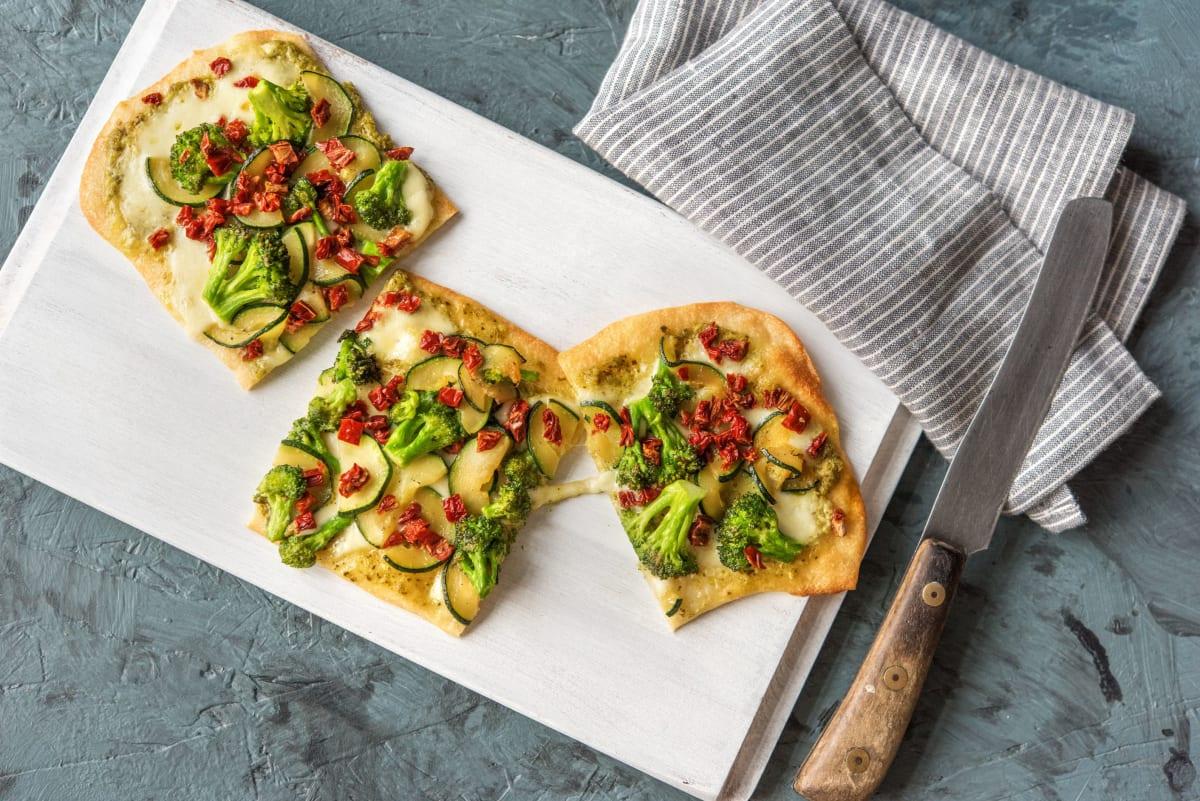 Pesto Flatbread (aka Posh Pizza)