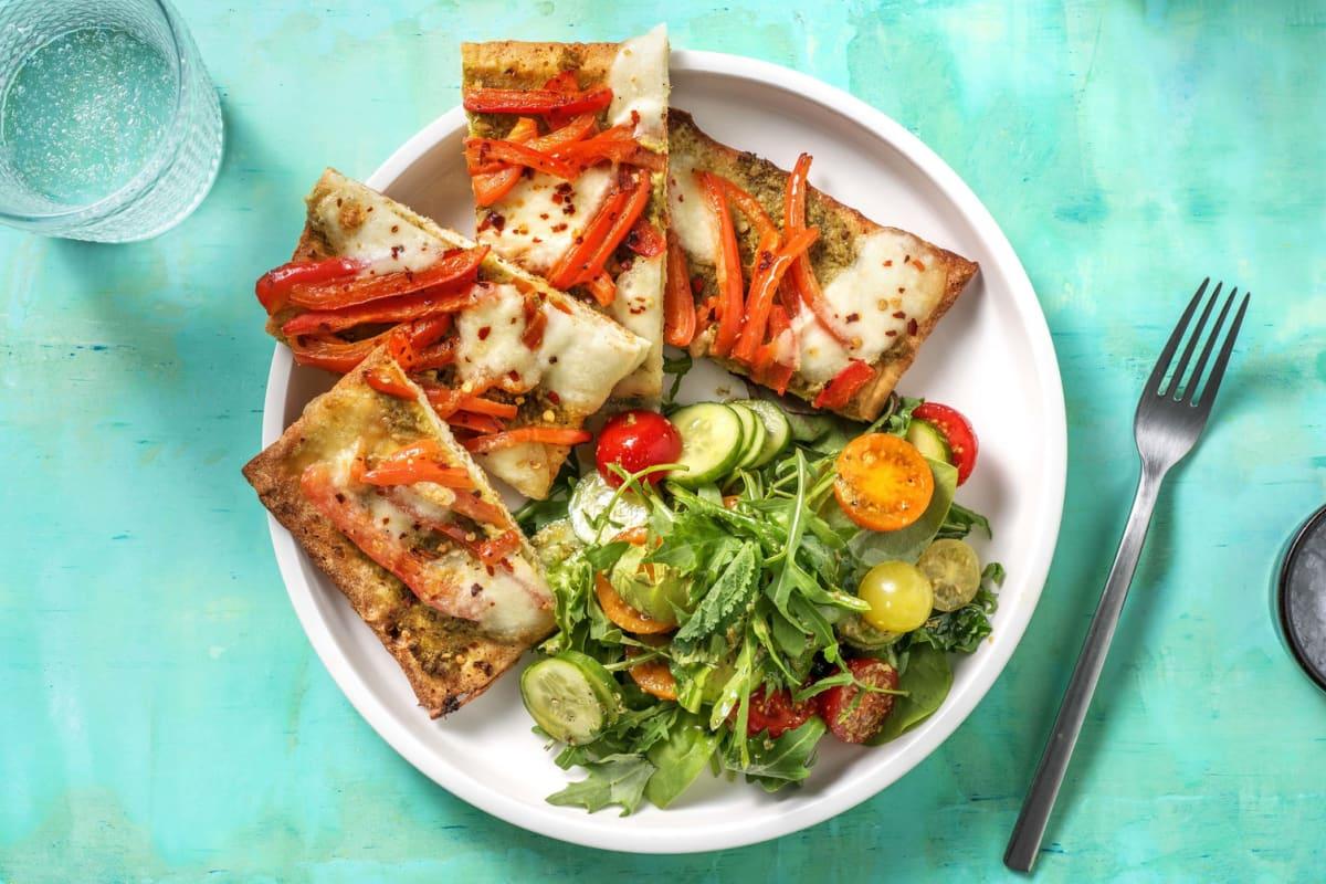 Pesto Mozzarella Flatbread