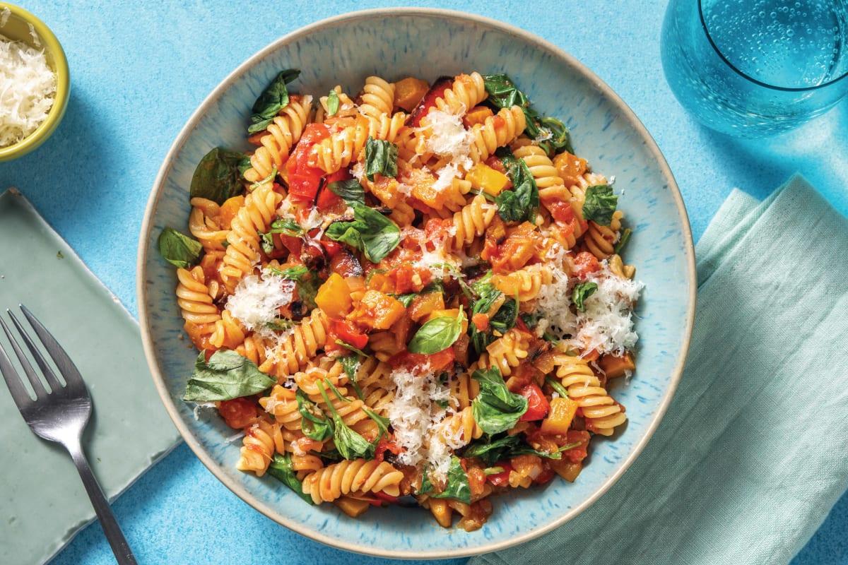 Roasted Vegetable & Pesto Fusilli