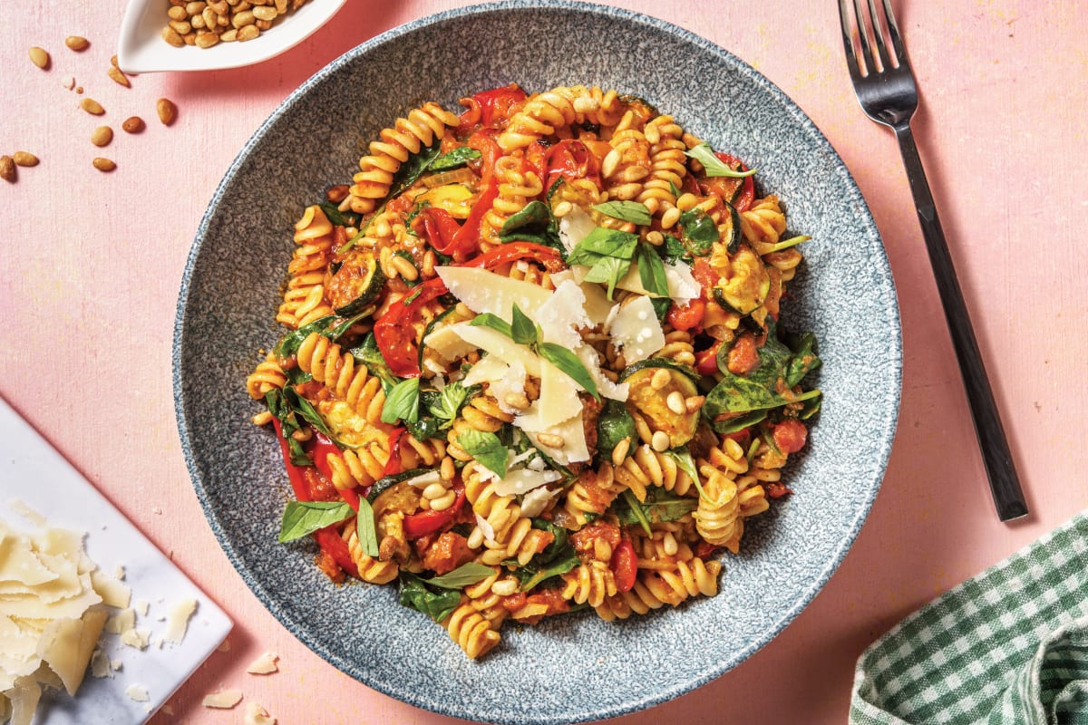 Pesto Roasted Vegetable Fusilli