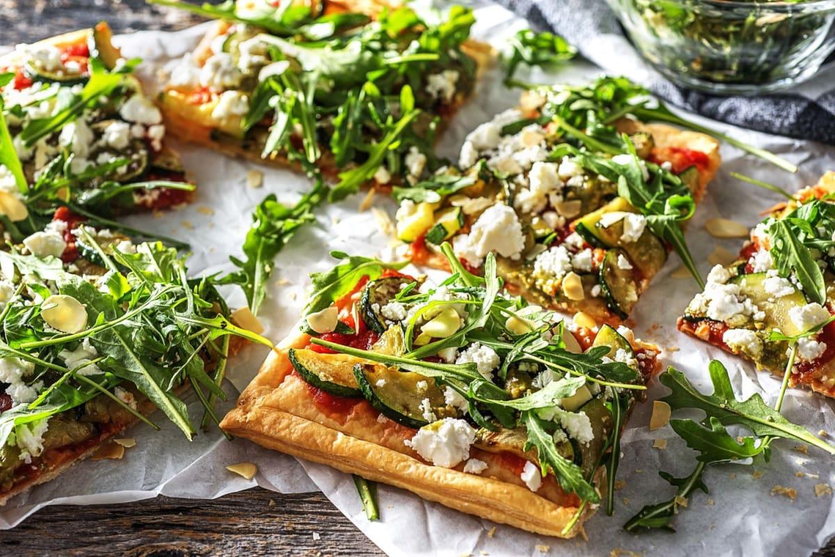 Arugula and Pesto Pizza