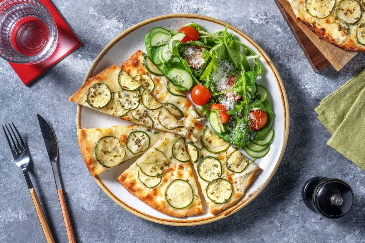 White Zucchini and Ricotta Pizza