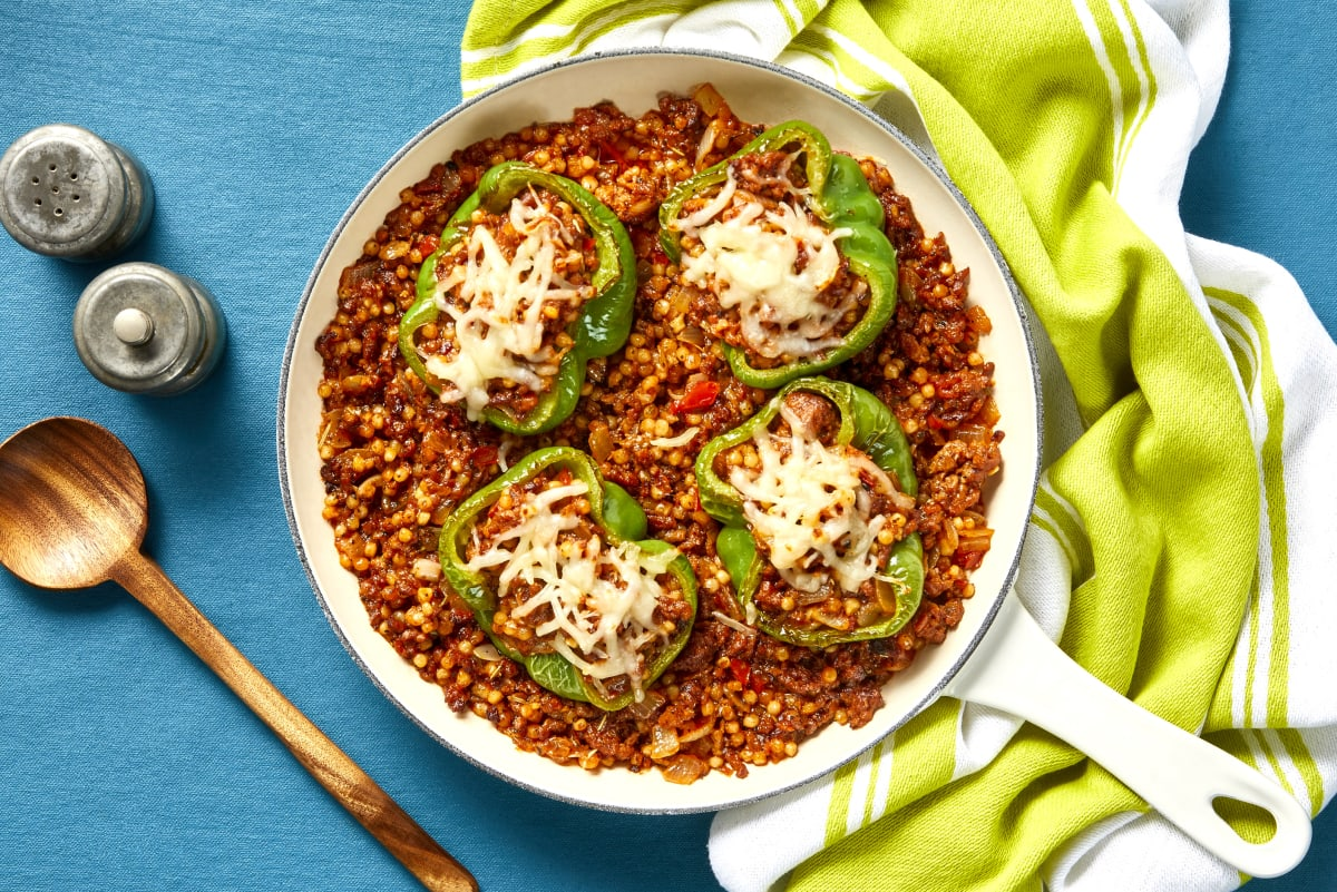 Plant-Based Protein Stuffed Peppers