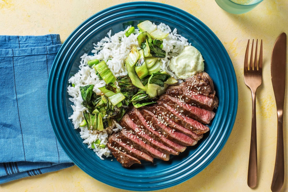 Ponzu-Marinated Steak and Bok Choy