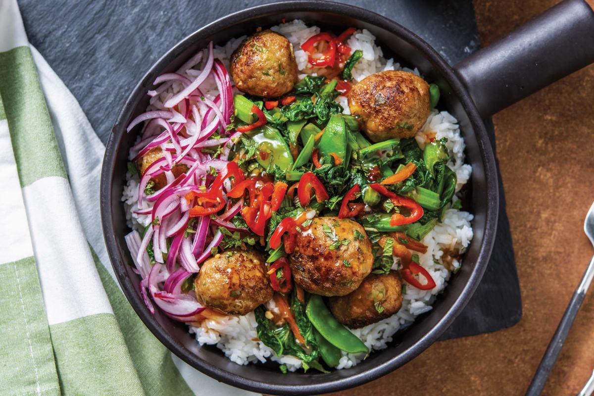 Pork Bun Cha Rice Bowl