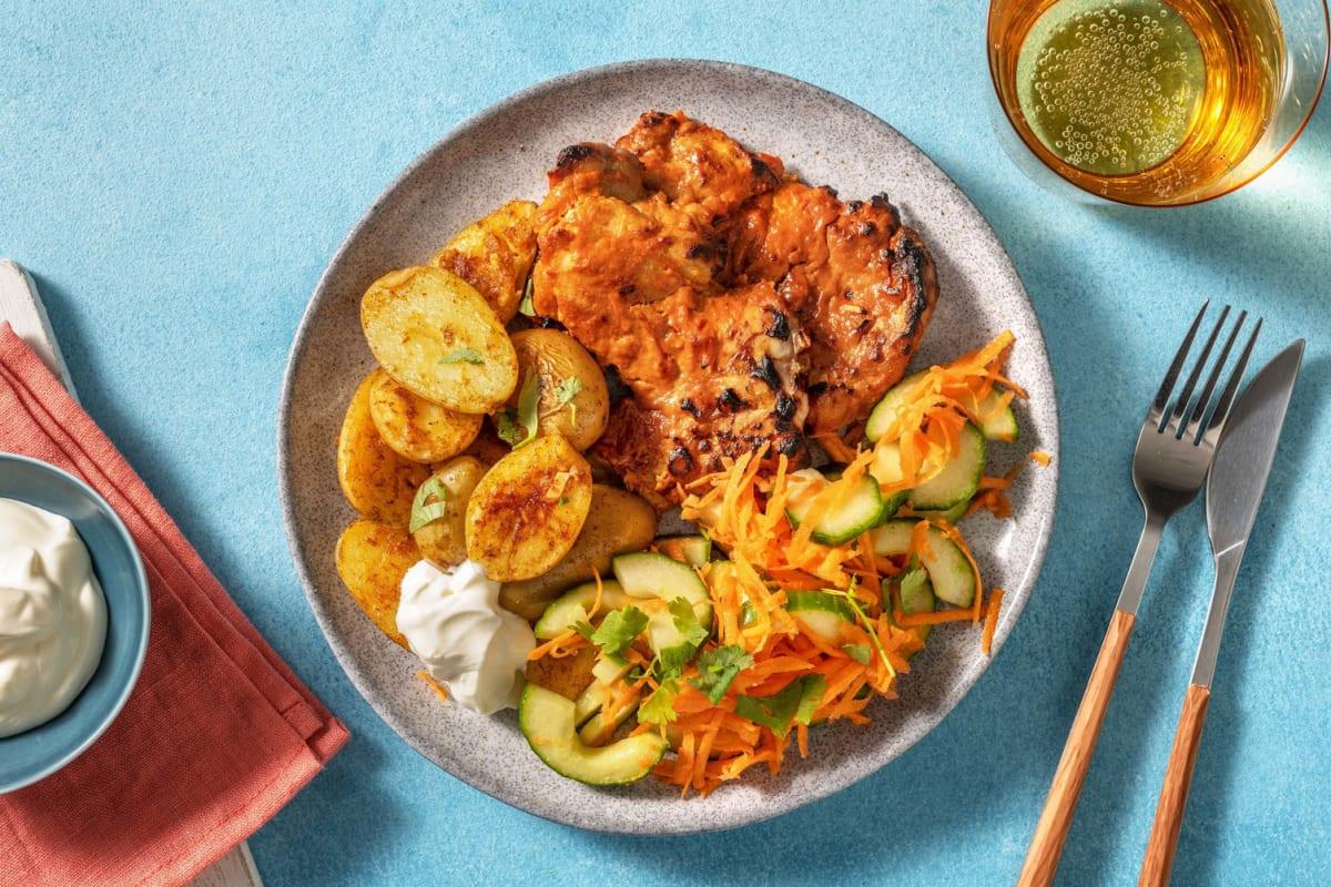 Poulet tandoori & pommes de terre à l'indienne