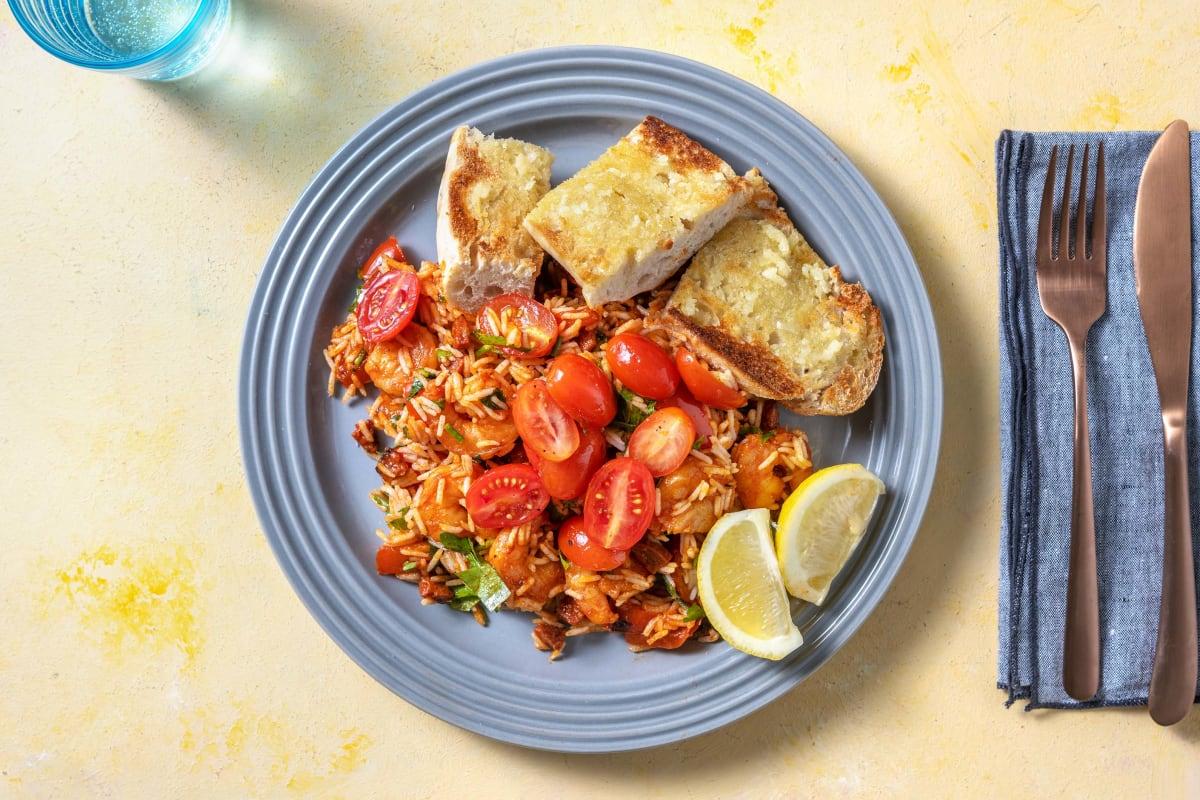 King Prawn and Chorizo Spanish Rice