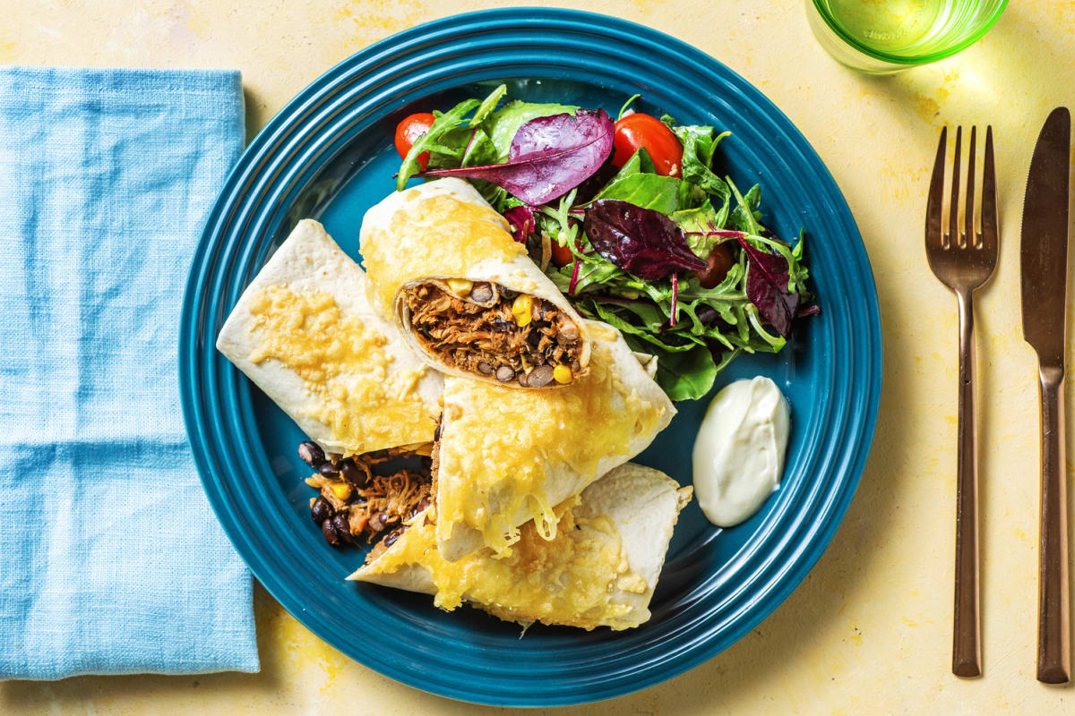 Pulled Pork Chimichangas