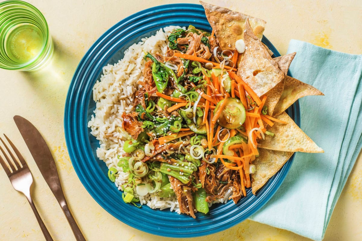 Pulled Pork Spring Roll Bowl